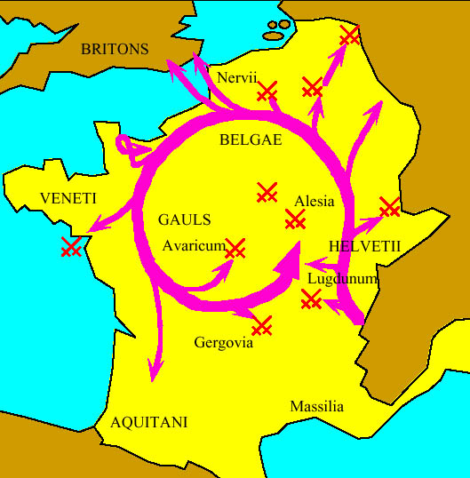 Map of Gaul