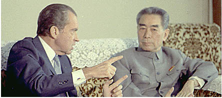 Chou En-lai with US President Richard Nixon in 1972