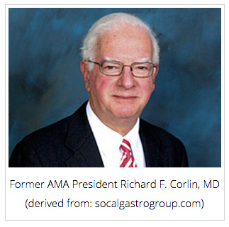 Past AMA president Dr. Richard Corlin