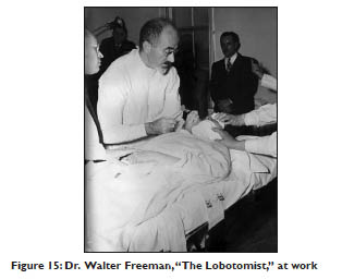 Dr. Walter Freeman at work