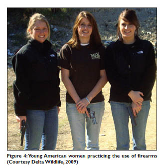 US Women with firearms