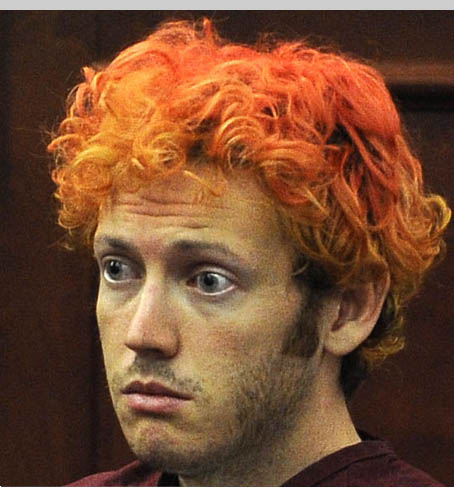 James Holmes after arrest
