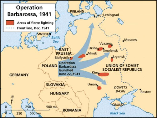 """a history of operation barbarossa in world war two The invasion was the largest german military operation of world war ii   operation barbarossa would need to be fought as a """"racial war"""" against the  jewish."""