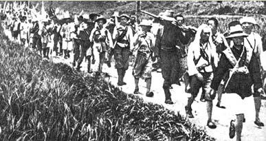 Red Army soldiers on the Long March