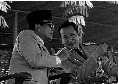 Suharto with Sukarno