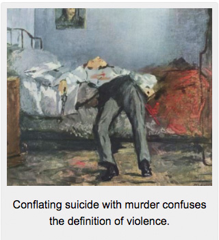 Conflating suicide with murder