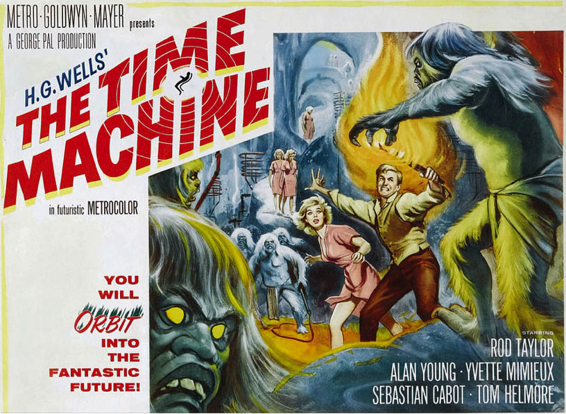 H.G. Well's The Time Machine movie poster